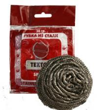 Губка метал. для посуды ТЕХТОР SPIRAL, 30 гр. (120 уп. в кор.) Арт. Т381-1