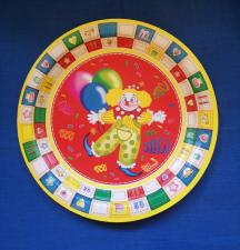 """Картонная тарелка с рис. """"КЛОУН"""", 180 мм, 1*10 шт. """"Тайга"""""""