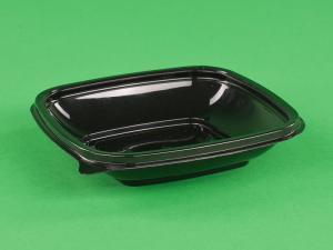 Контейнер  250 мл, чёрный (126*126*38,5 мм) ПЭТ, 1*50 (500) Сп-1212