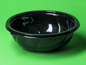Контейнер 1000 мл, круглый, чёрный (внеш. 194*65,1 мм) ПЭТ, 1*75 (300) СпК-190Д