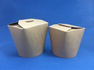 Контейнер бумажный, Сhina Pak  750мл, КРАФТ (93*93мм h-98мм) 1*50 (500шт/10уп. в кор) дно круглое