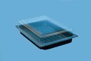 Контейнер РП-208+крышка (вн. 218х139х23мм) 1*400 дно+1*400 кр (под суши)