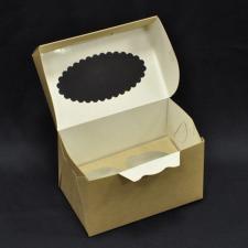 Короб под  2 Капкейка, Крафт картон. (170х93 мм, h 100 мм) кор. 1*50 (200) + вклад. 1*50 (200)