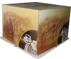 Коробка для торта 42х42 см, h 30см  картон, 1*25*25
