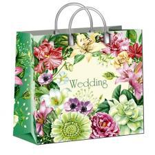 Пакет из мягкого пластика 30х30 см, Свадебный, 1*10 (40)