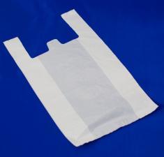 Пакет майка ПНД 29+14/54, 18 мкм, белая, 1*100 шт. (2000 шт./20 уп. в кор)