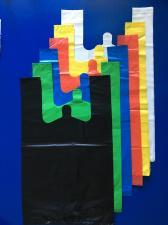 Пакет майка ПНД 400+200х700, 20 мкм, синяя,  1*100 шт. (2000 шт./20 уп. в кор.)