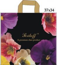 Пакет с петл. ручкой 37х34, 95 мкм, ПРИМУЛЫ, 1*25 (400) Serikoff