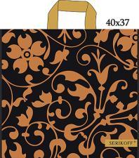 Пакет с петл. ручкой 40х40, 95 мкм, УЗОР, золото, 1*25 (400) Serikoff