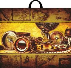 Пакет с петл.ручкой 60х50, КОЛУМБ, 70мкм, 1*25 (250)