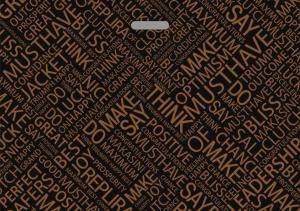 Пакет с проруб.ручкой 71х50, МАКСИМА чёрная, 70мкм, 1*25 (250)