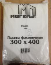Пакет фасовочный 30х40, 9 мкм, ПНД, 1*500 (20 уп) МЕГАПАК