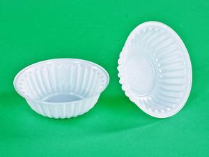 Салатник (тарелка-креманка) РОМАШКА, бел.,  ПЭТ, 150 мл, 1*100 (4000) СТ