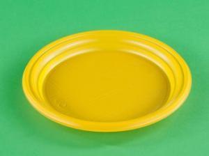 Тарелка дес. Д. 170 мм, PP, желтая, 1*100 шт. (2800 шт./28 уп. в кор.) ПД