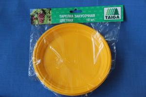Тарелка закусочная ЦВЕТНАЯ d-205мм, 1*10 шт.