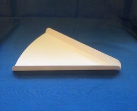 Тарелка под сегмент пиццы, белая, 1*50 шт. (1500 шт./30 уп. в кор.)