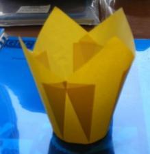 Форма бумаж. Тюльпан 50 мм, h 95 мм, желтый, 1*150 (900) Арт. TMC175/50Y