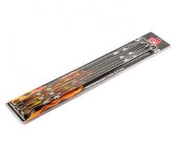 Шампуры плоские Grifon 60 см, 6 шт. на блистере, нерж. сталь 1,5 мм, 1*24, , Арт. 600-013