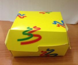 Коробка под бургер, 120х120х70мм (300)
